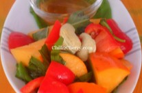 PERSIMMON AND PEPPER SALAD